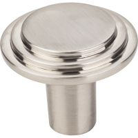 "Elements By Hardware Resource - Calloway Collection Knobs - 1.25"" Diameter in Satin Nickel"