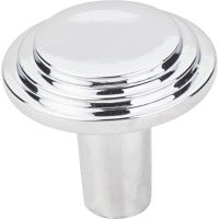 "Elements By Hardware Resource - Calloway Collection Knobs - 1.125"" Diameter in Polished Chrome"
