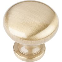 """Elements By Hardware Resource - Madison Collection Pulls - 1.1875"""" Diameter in Satin Brass"""