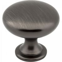 """Elements by Hardware Resources - Madison Collection Cabinet Knob - 1.18"""" Diameter in Brushed Pewter"""