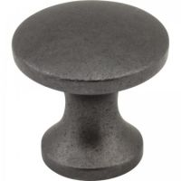 "Elements by Hardware Resources - Slade Collection Cabinet Knob - 1"" Diameter in Gun Metal"