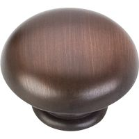 """Elements By Hardware Resource - Gatsby Collection Knobs - 1.1875"""" Diameter in Brushed Oil Rubbed Bronze"""