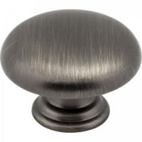 """Elements by Hardware Resources - Gatsby Collection Cabinet Knob - 1.18"""" Diameter in Brushed Pewter"""