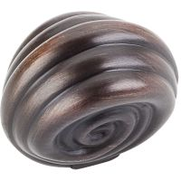 """Jeffrey Alexander By Hardware Resource - Lille Collection Knobs - 1.375"""" Overall Length in Brushed Oil Rubbed Bronze"""