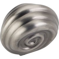 """Jeffrey Alexander By Hardware Resource - Lille Collection Knobs - 1.25"""" Overall Length in Brushed Pewter"""