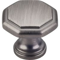 "Elements By Hardware Resource - Drake Collection Knobs - 1"" Projectionin Brushed Pewter"