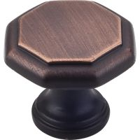 "Elements By Hardware Resource - Drake Collection Knobs - 1"" Projectionin Brushed Oil Rubbed Bronze"