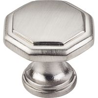 "Elements By Hardware Resource - Drake Collection Knobs - 1"" Projectionin Satin Nickel"