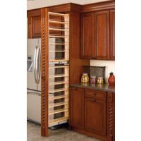 "45"" Tall Filler Pullout Organizer with Wood Adjustable Shelves Tall/Pantry Accessories"