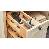 "Natural Maple Outlet Grooming Organizer for a Full Height 12"" Vanity Base Cabinet"