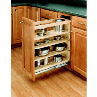 Base Cabinet Pullout Organizer with Wood Adjustable Shelves Sink & Base Accessories