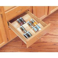 """Wood Spice Tray - Fits Drawer Sizes up to 24"""" Wide (Rev-A-Shelf)"""