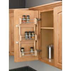 "Door Mount Spice Rack - Fits a 15"" Wide Wall Cabinet (Rev-A-Shelf)"