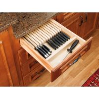 Trimmable Knife Block - Fits Any Size Drawer
