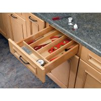 Wood Utensil Tray Insert (short height)