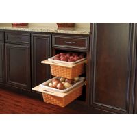 "Rev-A-Shelf Woven Basket with Rails - Fits a 15"" Wide Base Cabinet"