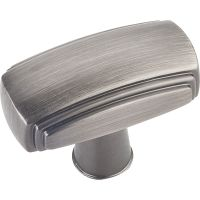 "Jeffrey Alexander By Hardware Resource - Delgado Collection Pulls - 1.563"" Overall Length in Brushed Pewter"