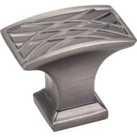 """Jeffrey Alexander By Hardware Resource - Aberdeen Collection - 1.25"""" Projection in Brushed Pewter"""