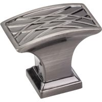 """Jeffrey Alexander By Hardware Resource - Aberdeen Collection - 1.25"""" Projection in Brushed Black Nickel"""