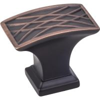 """Jeffrey Alexander By Hardware Resource - Aberdeen Collection - 1.25"""" Projection in Brushed Oil Rubbed Bronze"""