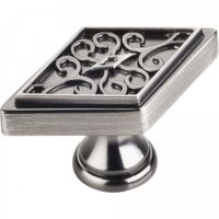 """Jeffrey Alexander by Hardware Resources - Marvella Collection Cabinet Knob - 2.25"""" Diameter in Brushed Pewter"""