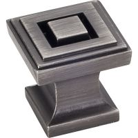 """Jeffrey Alexander By Hardware Resource - Delmar Collection Pulls - 1"""" Overall Length in Brushed Pewter"""