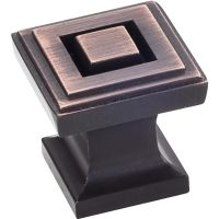 """Jeffrey Alexander By Hardware Resource - Delmar Collection Pulls - 1"""" Overall Length in Brushed Oil Rubbed Bronze"""