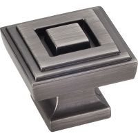 """Jeffrey Alexander By Hardware Resource - Delmar Collection Pulls - 1.25"""" Overall Length in Brushed Pewter"""
