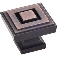 """Jeffrey Alexander By Hardware Resource - Delmar Collection Knobs - 1.25"""" Overall Length in Brushed Oil Rubbed Bronze"""