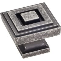 """Jeffrey Alexander By Hardware Resource - Delmar Collection Knobs - 1.25"""" Overall Length in Distressed Pewter"""