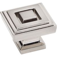 """Jeffrey Alexander By Hardware Resource - Delmar Collection Knobs - 1.25"""" Overall Length in Satin Nickel"""