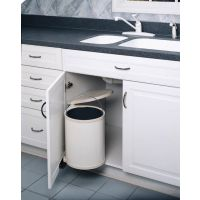 Round Pivot-Out Waste Containers - Fits a Sink Base Cabinet Door (Rev-A-Shelf)