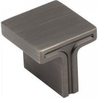 "Jeffrey Alexander by Hardware Resources - Anwick Collection Cabinet Knob - 1.12"" Diameter in Brushed Pewter"
