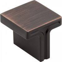"Jeffrey Alexander by Hardware Resources - Anwick Collection Cabinet Knob - 1.12"" Diameter in Brushed Oil Rubbed Bronze"