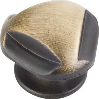 "Jeffrey Alexander By Hardware Resource - Chesapeake Collection - 1.3125"" Diameter in Antique Brushed Satin Brass"
