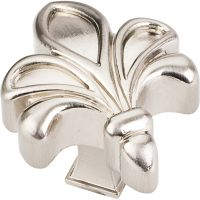 "Jeffrey Alexander By Hardware Resource - Evangeline Collection Knobs - 1.75"" Overall Length in Satin Nickel"