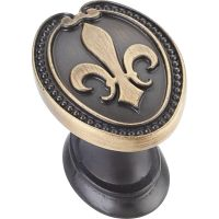 """Jeffrey Alexander By Hardware Resource - Bienville Collection - 1.313"""" Overall Length in  Antique Brushed Satin Brass"""