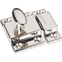 """Jeffrey Alexander By Hardware Resource - Latches Collection - 1"""" Projection in Polished Nickel"""