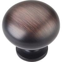 """Elements By Hardware Resource - Geneva Collection Knobs - 1.25"""" Overall Length in Brushed Oil Rubbed Bronze"""