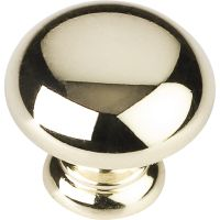 """Elements By Hardware Resource - Geneva Collection Knobs - 1.25"""" Diameter in Polished Brass"""
