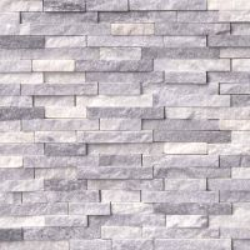 Alaskan Gray Splitface Interlocking Pattern Mosaic Wall Tile Sample