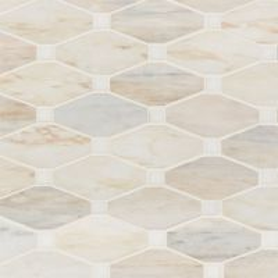 Angora Elongated Octagon Polished Mosaic Wall Tile Sample