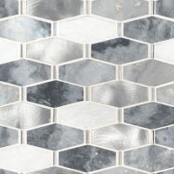 Ankara 6mm Hexagonal Mosaic Tile Sample