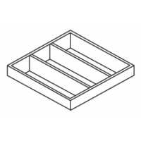 """Utensil Tray for a 15"""" Wide Base Cabinet"""