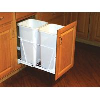 "Double Pullout Waste Container - Fits a 18"" Wide Base Cabinet (Rev-A-Shelf)"