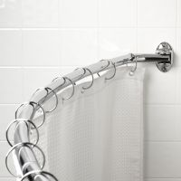 "Elements By Hardware Resource - Shower Rod Collection - 12.25"" Projection in Polished Chrome"