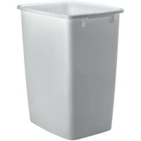 Southport White Shaker Trash Can