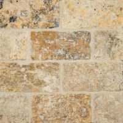 """Tuscany Scabas Tumbled 3"""" x 6"""" Subway Tile Sample"""