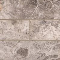 "Tundra Gray Marble 4"" x 12"" Subway Tile"