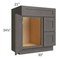 """30"""" Vanity Sink and Drawer Combo (Drawers on Right)"""